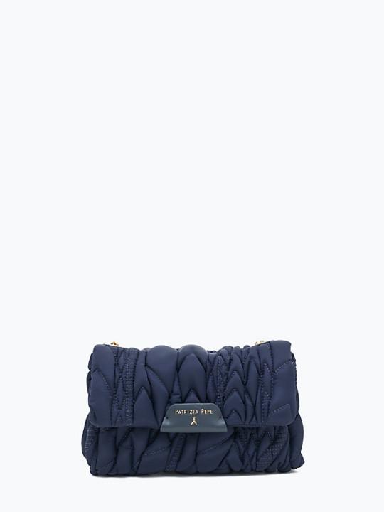 patrizia pepe-sac de soirée-bleu